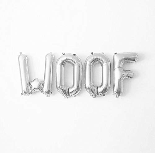 (Balloon Woof Balloon for dog Balloon for Party WOOF -16″ ROSE GOLD FOIL LETTER BALLOON PACK,Woof Birthday, Woof Birthday Theme, Woof Party,Dogs Party WOOF -16″ SILVER FOIL LETTER BALLOON PACK,Woof Birthday, Woof Birthday Theme, Woof Party,Dogs Party)