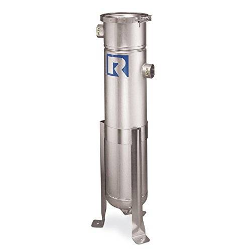 (Rosedale Products LCO-8-30-2P-125-S-V-PB Model LCO Bag Filter Housing, 304 Stainless Steel, 30