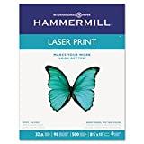 ** Laser Print Office Paper, 98 Brightness, 32lb, 8-1/2 x 11, White, 500 Sheets/RM