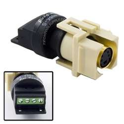 Quickport Solderless S-Video Jack - Ivory