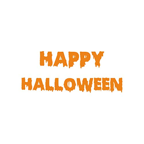 Vinyl Wall Art Decal - Happy Halloween - 9.5