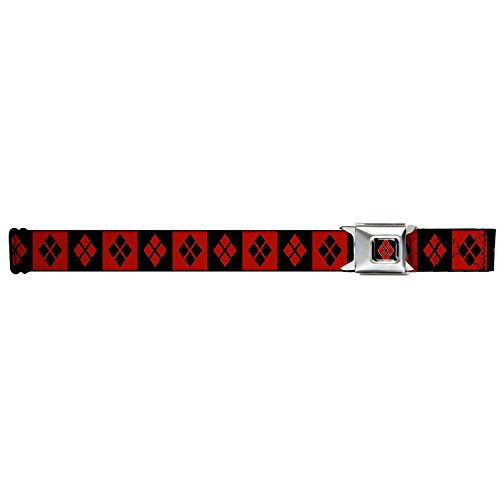 Harley Quinn Diamonds/stripe Seatbelt Belt