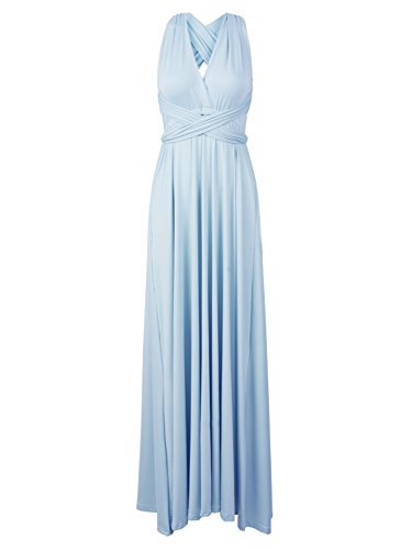 Maxi Women's CHOiES Gown Multi Blue fashion record Wrap Convertible Dress Dress Strap Way your Infinity inspired nIYqHOIr