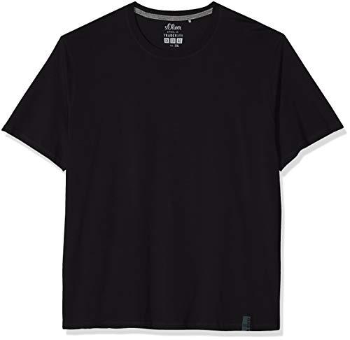 9999 shirt Size Big black Nero T oliver S Uomo x7wv7