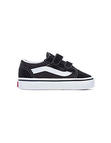 Vans Kids' Old Skool V Core (Toddler) Black/White 3