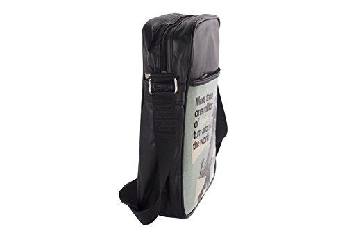 Tracolla uomo VESPA nero borsello multiscomparto VF231