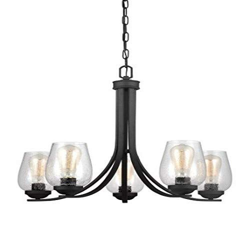 Sea Gull Lighting 3127805-839 Morill Five Light Chandelier, Blacksmith Finish
