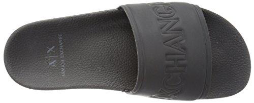 A|X Armani Exchange Men's Lightweight Rubber Slipper Slide Sandal Black sale countdown package outlet visit cheap sale 2014 new cheap sale authentic outlet discount y2BaO