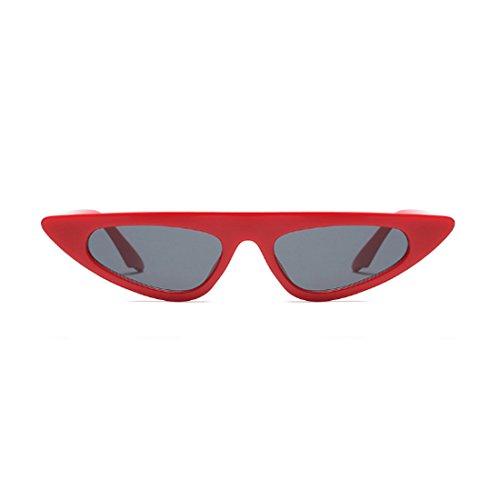 pequeño gato Aiweijia de ojo de Rojo estilo de sol de marco Gafas de diseñador Gafas estilo moda de sol Gris de de vintage de Estilo 6U8UYnr