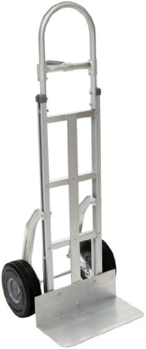 RWM-Casters-Aluminum-Fixed-Hand-Truck-with-Center-Grip-Pin-Handle-and-Aluminum-Center-Strap-Extruded-Aluminum-Nose-Plate-500-lbs-Load-Capacity-55-Height