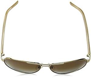 Ralph by Ralph Lauren Women's 0ra4004 Polarized Aviator Sunglasses, Gold Cream, 59.0 mm