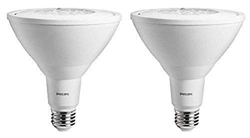 Philips LED Non-Dimmable PAR38 25-Degree Spot Light Bulb: 1000-Lumen, 5000-Kelvin, 11-Watt (90-Watt Equivalent), E26 Base, Daylight, 2-Pack