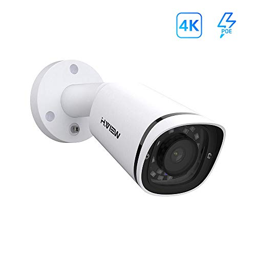 H.VIEW 4K UltraHD 8MP Outdoor Bullet IP POE Camera,3840×2160,3.6mm Fixed Lens,115ft NightVision,IP67 Weatherproof,Built in one Way Audio,Compliant with Hikvision,Support Onvif, H.265 (HV-E800)