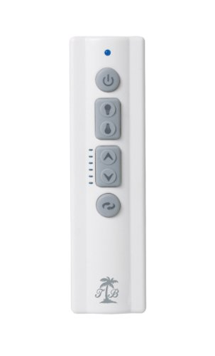 Tommy Bahama TBSR600 6-Speed Full Function Remote Control with Continuous Light Dimming and Reverse, Transmitter Only, White