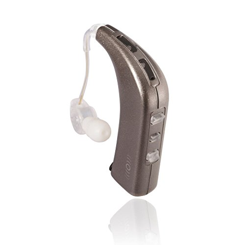 Bluetooth Personal Sound Amplifier - Sound World Solutions Sidekick Model: HD100-PSA (One Ear, White Gold Metallic)