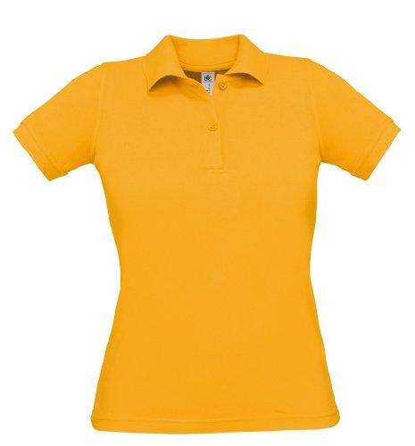 Safran Ladies Polo, Farbe:Gold;Größe:XL