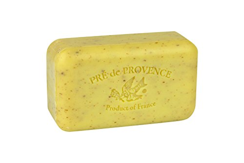 Pre de Provence Artisanal French Soap Bar Enriched with Shea Butter, Quad-Milled For A Smooth & Rich Lather (150 grams) - Lemongrass
