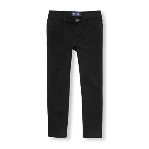 The Children's Place Big Girls' Solid Knit Jeggings, Black, 14 by The Children's Place