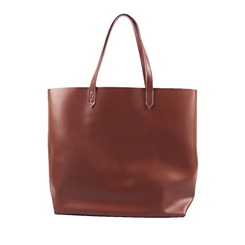 Handmade women fashion brown leather tote bag shoulder bag handbag shopper bag by Jellybean Gorilla