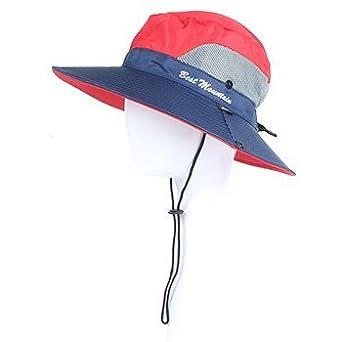 49253209fab Dealapt Unisex Large Brimmed Adjustable Fishing Hats Boonie Sun Hat UPF 50+ Sun  UV Protection