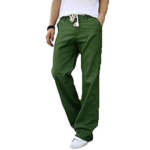 unita da confortevoli Lino sciolto Abbigliamento uomo Very Pantaloni tinta casual Grün tasche Beach Adelina con 7fZ8x
