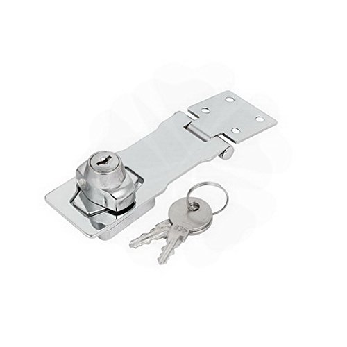 Latches 144mmx40mmx33mm Metal Screw Fixed Safety Guard Keyed Hasp Latch Lock Silver Tone By Houseuse