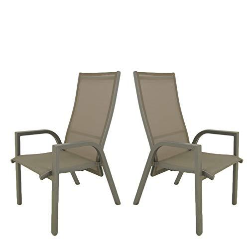 Edenjardi Pack 2 sillones de terraza | Reclinable con ...
