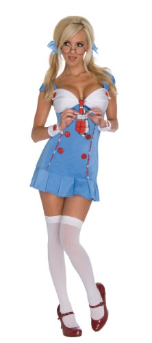 Back To School Party Costumes (Secret Wishes Back To School Costume, Blue/White, Medium)
