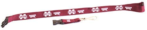NCAA Mississippi State Bulldogs Team Color Lanyard, 22-inches, Burgundy
