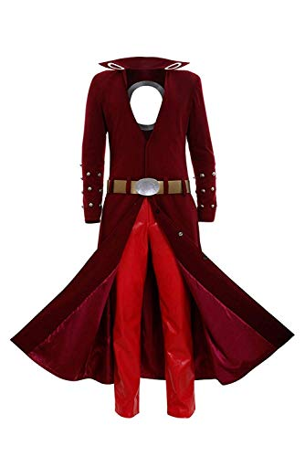 HICOSER Fox's Sin of Greed Ban Cosplay Costume Halloween Dress Up Red Uniform Outfit Suit -