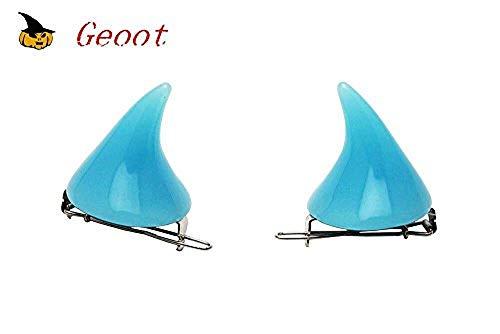 Geoot 1 Pair Trendy Women Little Devil Punk Hair Clip (Azure1) ()