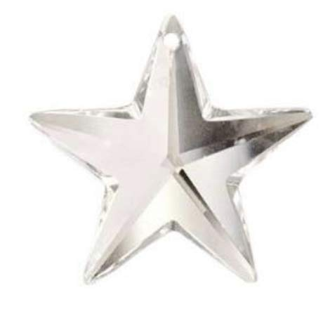 SWAROVSKI Crystal 28mm Clear Faceted Star Prism Amazing Clarity & Shine (Star Jewelry Moravian)