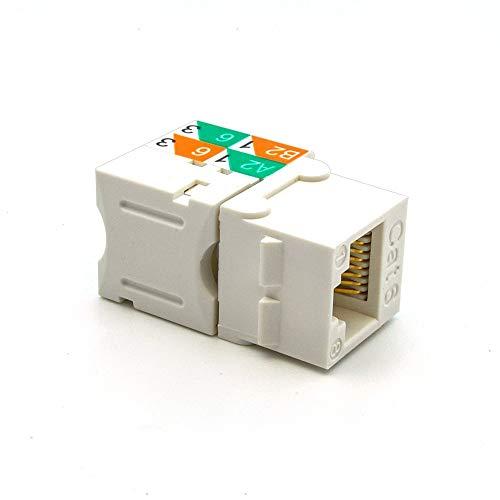 Antook RJ45 Keystone Jack Ethernet Punch Down Cat 6 5e 5 Inserts Network Module (10 - Keystone Rj11 Jack