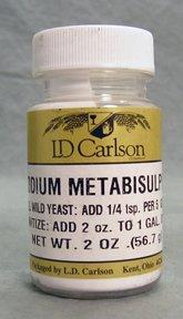 Метабисульфит натрия - 2 унции.