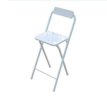Miraculous High Stool Bar Stool Home Folding Back Chair Modern Minimalist Bar Chair White Wood Color Sitting 60Cm High Color White Bralicious Painted Fabric Chair Ideas Braliciousco