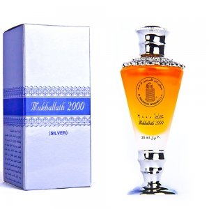 Mukhallath 2000 Silver - Alcohol Free Arabic Perfume Oil Fragrance for Men and Women (Unisex)