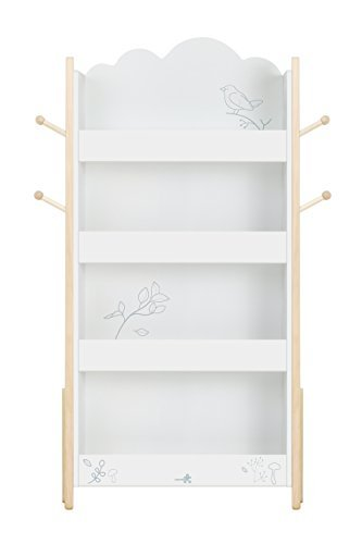finest selection 20db0 a09fc labebe - Kids Bookcase, White Children's Bookshelf, Book Storage, Wooden  Book Shelf for Living Room, Small Pine Bookcase for 1-5 Year Baby, Low ...