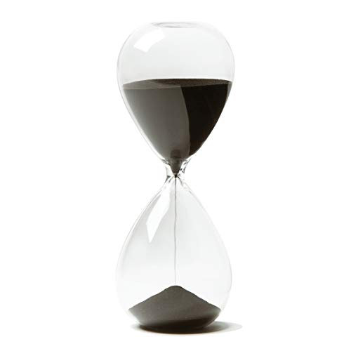 Hourglass, HoveBeaty Hand-Blown Sand Timer Set for Time Management 15 Minutes Durable Glass Construction (15 min, black) ()