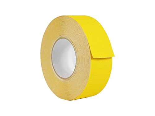 WOD ASTC32 Strong Grip Yellow Anti Slip Tape Safety Track 60 Grit - 2 inch x 60 ft. Non Skid Weather Proof Indoor & Outdoor Traction Tape No Slip (Available in Multiple Sizes & Colors)