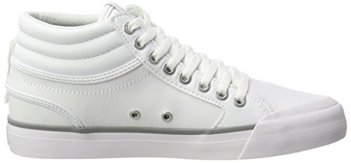 Hi Femme Sneakers Blanc Evan Shoes Basses DC Silver White 6gqzcEwS