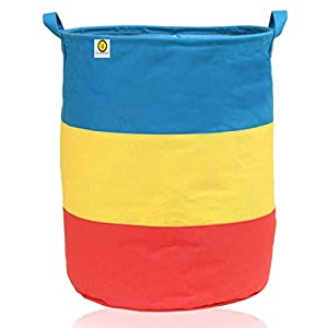 Yellow Weaves™ Laundry Bag /Basket for Dirty Clothes, Folding Round Laundry Bag