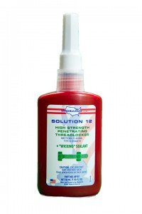 MRO Solution 12 Wicking Grade Green Penetrating Anaerobic Liquid State Threadlocker in Bottle, 10ml Capacity