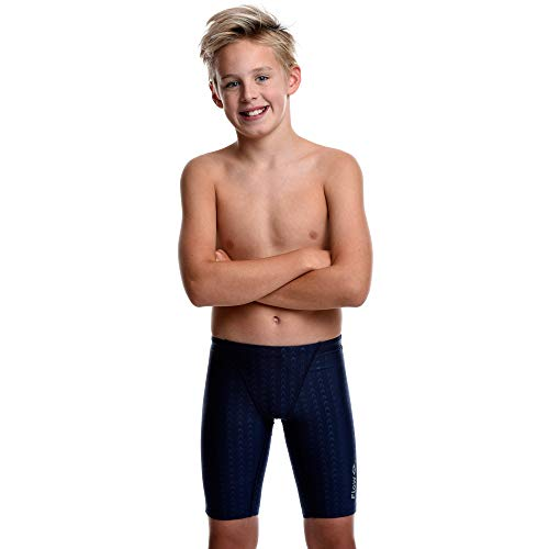 Flow Swim Jammer - Boys Youth Sizes 20 to 32 in Black, Navy, and Blue (28, Navy ()