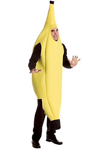 [Deluxe Banana Costume - One Size - Chest Size 42-48] (Banana Deluxe Adult Costumes)