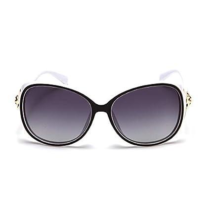 Sunglasses- Gafas de Sol polarizadas Female Tide Star Gafas de Sol Grandes Round Face Drive