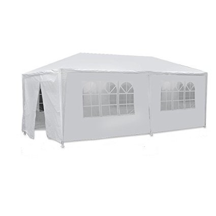 (Zeny 10 X 20 White Party Tent Gazebo Canopy w/ 6 Removable Sidewalls (10'x20' tent))