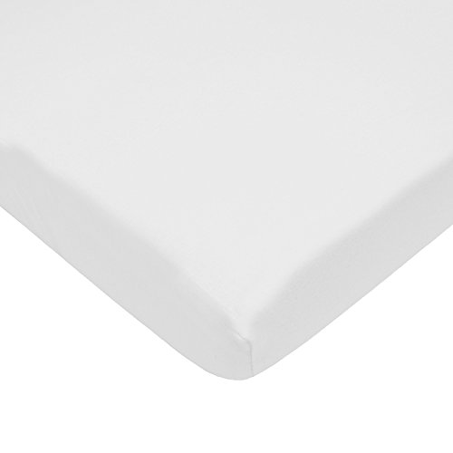 American Baby Company Fitted Mini-Crib Sheet, 100% Supreme Cotton Jersey Knit, (Knit Fitted Porta Crib Sheet)