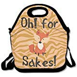 OH For Fox Sake Lunch Bag Tote Handbag Lunchbox For School Work Outdoor
