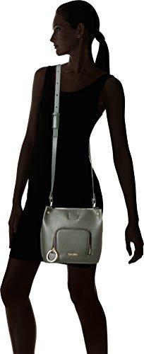 Shoppers y bolsos de hombro para mujer, color Verde , marca CALVIN KLEIN, modelo Shoppers Y Bolsos De Hombro Para Mujer CALVIN KLEIN NATASHA SMALL CROSSB Verde Verde
