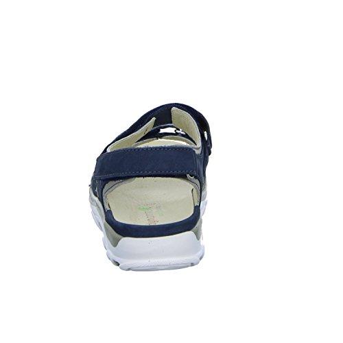 Waldläufer 448002 691 593 Damen Komfort Sandalette Blau (Blau)